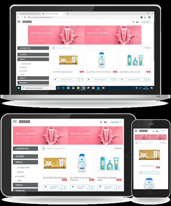 Print da tela d e-commerce